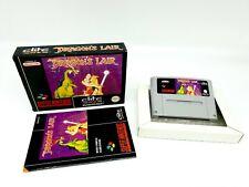 Super Nintendo Dragon`s Lair [FAH] Complete SNES ► VGC ◄