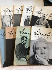 Lincoln Herald 8 Issue Lot Book Magazine Assassination 1954-58