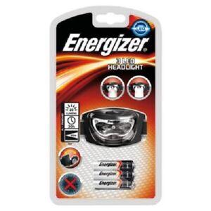 Lampe frontale Energizer 3 leds avec piles.