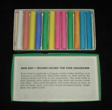 Hyga Color Vintage Box of 12 Sticks Colored Chalkboard Chalk by Dixon