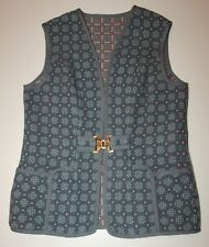 Vintage Trefriw Woolen Mills Welsh Tapestry Pure Wool Vest Waistcoat Size M-L
