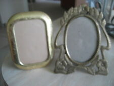 "2 VERY PRETTY FRAMES, ONE BRASS 7""X6"", ONE ETCHED GOLD TONE 5""X6.5"", GREAT GIFTS"
