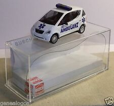 MICRO BUSCH HO 1/87 MERCEDES-BENZ CLASSE A AMBULANCE EMERGENCY IN BOX