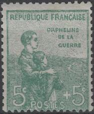 "FRANCE STAMP TIMBRE N° 149 "" ORPHELINS 5c + 5c VERT "" NEUF xx TTB  K153"