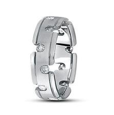 14k Gold, 0.84ct. Brilliant Round Diamond Fancy Design Men's Wedding Band, Ring