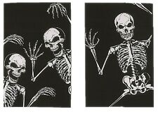 Skeleton Window Posters - Set of 2 - Spooky Decoration Halloween fnt