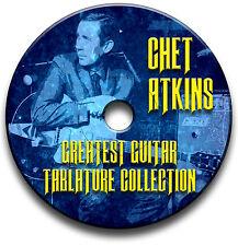 Chet Atkins Fingerstyle Land Gitarre Tab Tablature Lied BUCH Software CD