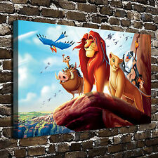 "12""x20""Disney The Lion King Paintings HD Print on Canvas Home Decor Wall Art"