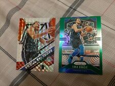 Luka Doncic prizm lot. 2019-20 Panini prizm green. Mosaic Will to Win silver.