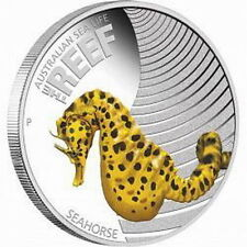 2010 Seahorse, Australian Sea life - The Reef, 1/2oz Silver Proof 50 Cent Coin