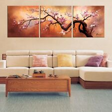 Paintings for Wall on Canvas Living Room Artwork Oil 3 Piece Plum Tree Spring