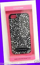 Victorias Secret JEWELS GEMS BLACK WHITE iPhone 5 5s Hard Case Graphic