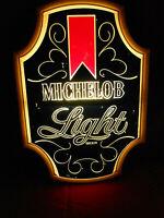 Vintage Michelob Light Beer Mirror Sign 18x26 Anheuser Busch Bar Advertisement
