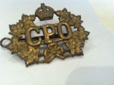 Vintage GENERAL POST OFFICE GPO CAP BADGE SCRIPT & FOLIAGE ROYAL MAIL in canada