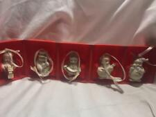 Lenox Mini Snowman Stand Abouts Ornaments Set of 5 New In Box