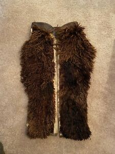 Miles City Saddlery Antique Leather Cowboy Wooly Chaps