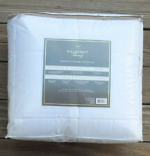 FIELDCREST Mattress Pad Protector ~ Queen ~ Cotton Top / Down Alternative  Fill