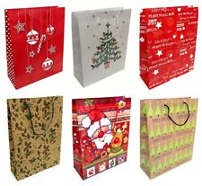 12 x Large Christmas Gift Bags Gift Packaging Xmas Present Wrapping Mixed