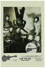 1960's Rock: The Monkees at The Cow Palace Concert Poster 1967