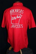 "Rare Vintage 1960'S Red Cotton Embroidered Jaycees ""Mike"" Bd Shirt Size Medium"