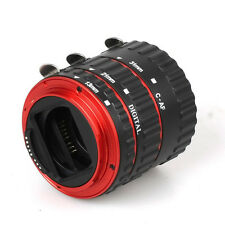 Red Metal Mount Auto Focus AF Macro Extension Tube/Ring fo Kenko Canon EF-S Lens