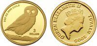 Tuvalu 2005 Owl 1/25 oz Gold BU Coin