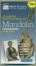 Watch And Learn Mandolin For Beginners Vhs Video Tape-Brand New On Sale!