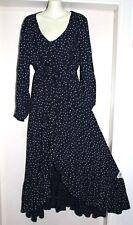 BOHO AUSTRALIA NWT SZ-S-8-10 LONG MAXI HIPPY GYPSY FESTIVAL NAVY BOWERY DRESS