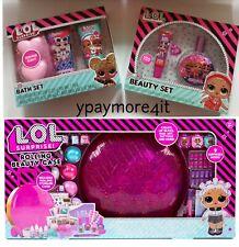 Set Of 3 LOL Surprise Rolling Beauty Case + Scented Fragrance Perfume + Bath Set