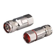 2 Stück N Stecker nicht lötend Kontakt RF Steckverbinder für 1/2 Zoll Ring kabel
