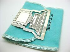 Sterling Tiffany & Co. ~ VINTAGE COMPUTER BOOKMARK ~ Silver with Original Bag