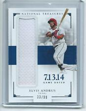 564e22387f3 2016 National Treasures BB GAME DATED  GD-EA Elvis Andrus Rangers RELIC