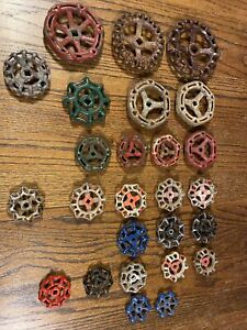 Lot of 26 Vintage Metal Faucet Knobs Valve Handle STEAMPUNK Spigot Drawer Pull