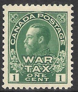 CANADA SCOTT MR1 MH VF - 1915 1c GREEN WAR TAX ISSUE   CAT $25.00