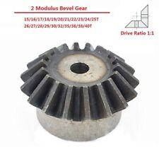 2 Modulus 15/16/17/18-40T Umbrella Tooth 90° 1:1 Pairing 45# Steel Bevel Gear