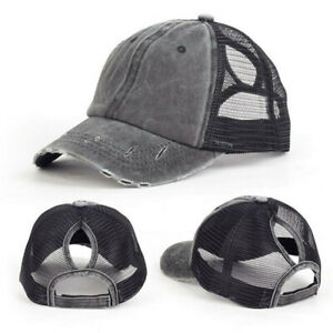 1pc Unisex Vintage Mesh Trucker Summer Baseball Cap Caps Hat Snapback Snap Back