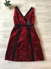 PRADA Dress Black Red Velvet Jacquard Floral Dress IT42 UK10 £1700 USA 4-6 NEW