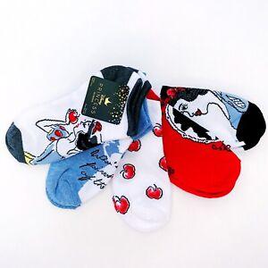 NWT New Disney Princess Snow White Womens Ankle Socks 5 Pairs Sizes 4-10