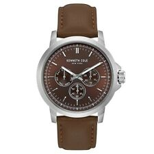 Kenneth Cole New York Men's Stainless Steel & Leather Quartz Watch KC50689004