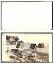 Italie, Naples Panorama CDV vintage albumen carte de visite,  Tirage albuminé