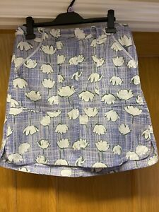 BNWT Ladies NEXT Blue Cream & Green Flowered Skirt UK 12 New Cost £22