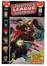JUSTICE LEAGUE OF AMERICA #104 (VG) Batman! Superman! Flash! Hawkman! 1973