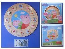 Orologio in legno di Peppa Pig puzzle a incastro ore minuti 12 numeri quantità