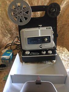 Vintage Honeywell Elmo FP8-C Dual 8 Projector In Original Box & Accessories