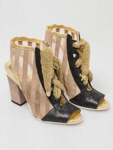 ELISA CAVALETTI Peeptoe/Schuhe/Ankle Boots Oro Gr. 37 *Sommer 2017*