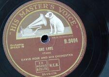 78rpm DAVID ROSE ORCH one love / dvorak humoresque