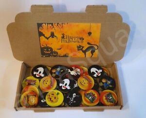 25 Spooky Halloween Milk Chocolate Coins Pumpkin Skull witch Trick or Treat Box