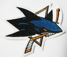 """LOT OF (1) HOCKEY SAN JOSE SHARKS PATCH  PATCHES 3 1/2"""" X 3""""(TYPE B) ITEM # 96"""