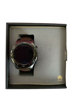 BNIB Huawei Watch 2 Classic Smartwatch 45mm Titanium Gray/Brown - SHIPS FROM USA