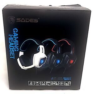 Sades Spirit Wolf 7.1 Surround Stereo Sound USB Computer Gaming Headset with Mic